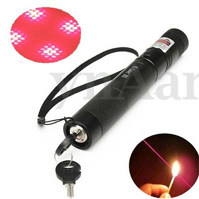 G303 532nm Rosso Zoomable Puntatore Laser Pointer Penna Pen Fascio + Stella Luce