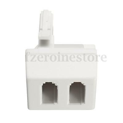 New BT Telephone Phone Socket Point Quad 2 Way Adaptor Splitter Two 2 to 1 White
