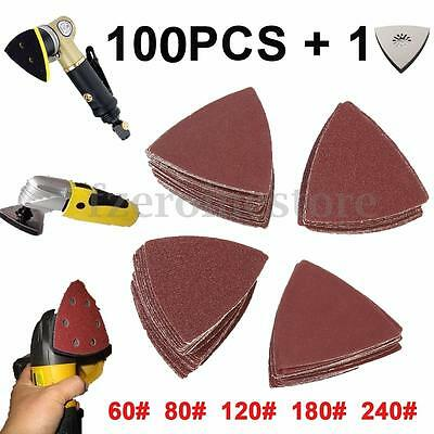 101Pcs Sanding Sheets Paper Pads Set 60-240 Gift Triangle Saw Blade Multi tool