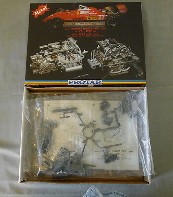 Protar Italy Metal Ferrari Turbo Engine Full & Unstarted 1/12 Model Kit & Box