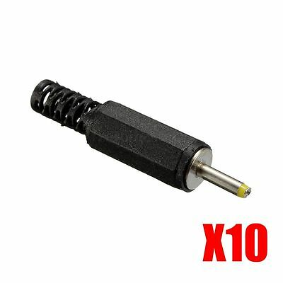 New 10Pcs 0.7mm x 2.5mm Male Solder DC Tablet Power Plug Jack Connector Adapter