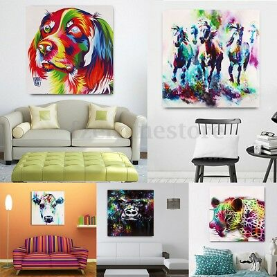 Dog Leopard Horse Canvas Print Painting Abstract Picture Display Unframe Decor
