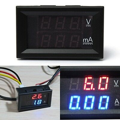 Dual Display LED DC 0-100V/0-200V Digital Voltmeter Ammeter Panel Amp Volt Meter