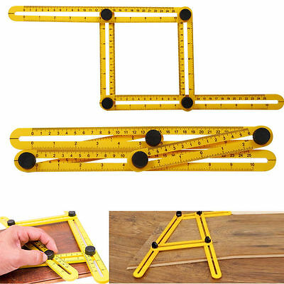 Multi-Angle 4 Sided Ruler Angle-Izer Ultimate Tile Flooring Template Scale Tool