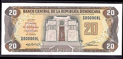 Dominican Republic. 20 Pesos, Commemorative,G000009L. 1992, Almost Uncirculated.