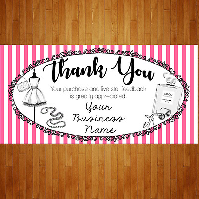 100 Xtra Large French Boutique Rectangle eBay Thank You Shipping Label Sticker