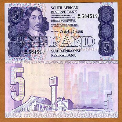 South Africa, 5 rand, ND (1978-1981), P-119 (119a), Sign. 5 aUNC