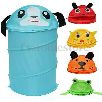 Cute Kids Pop Up Foldable Animal Toy Laundry Bag Clothes Hamper Storage Basket