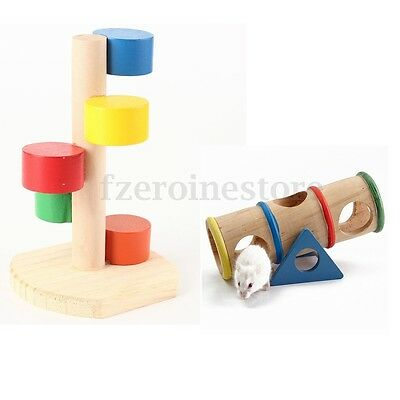 Colorful Scaling Ladder Seesaw Exercise Wheel Hamsters Mouse Rat Playing Toy Fun