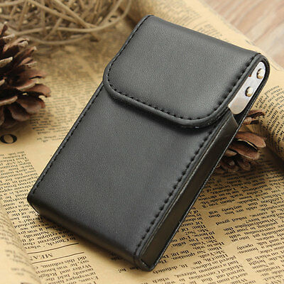 Business Credit Name Card Holder Wallet Case Cover Leather Pocket ID Box Slim