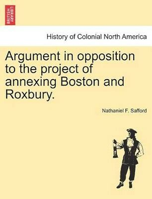 NEW Argument In Opposition To The Project Of... BOOK (Paperback / softback)