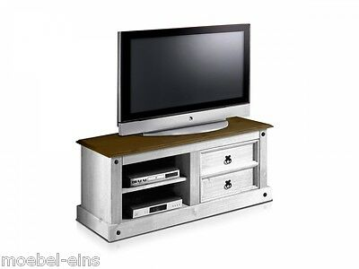 corona tv schrank tv unterteil fernsehschrank tv rack kiefer wei honig eur 69 00 picclick de. Black Bedroom Furniture Sets. Home Design Ideas