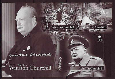 Guernsey 2015 Life Of Winston Churchill Mounted Mint.