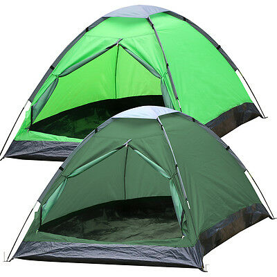 2 Person Waterproof Foldable Tent People Camping Outdoor Hiking Army Green