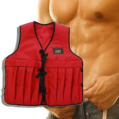 Adjustable Weighted Vest Jacket Strength Training Running Gym Exercise Fitness