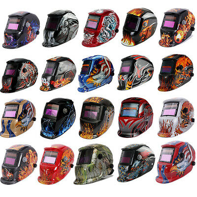 Auto Darkening Solar Powered Welders Welding Helmet Mask W/ Grinding Function GQ