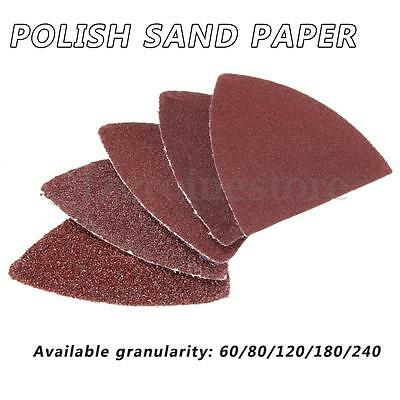 10/20/50x Delta Sanding Discs Sheets Pads Triangles 60-240 Grits Sandpaper Mouse