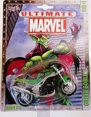 Maisto - Ultimate Marvel - Green Goblin, Triumph Speed Triple - Diecast/Plastic.