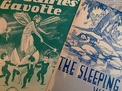 2 VINTAGE SHEET MUSIC. Decorative Covers The Fairies Gavotte The Sleeping Beauty