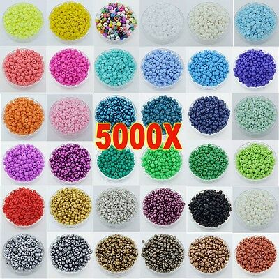 5000pcs Lots 2mm Glass Beads Seed Pearls Round Spacer For Jewelry Making DIY