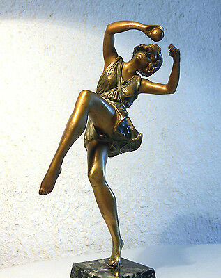AUTHENTIQUE  SCULPTURE BRONZE ART- DÉCO DANSEUSE  LE FAGUAYS de 1925 ( no copy )