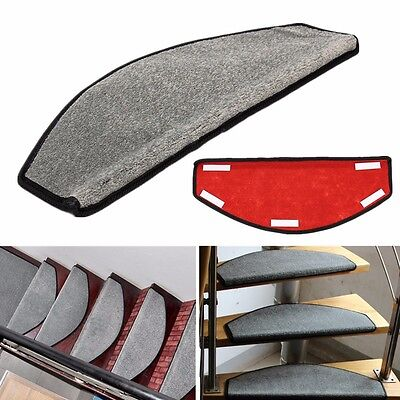 65x24cm European style Home Hotel Stair Treads Non-slip Floor Carpet Mat Rug Pad