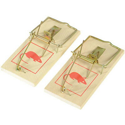 2 X Reusable Wooden Mouse Trap Mouse Traps Free Postage New Catch Kill Mice