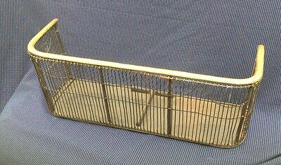 rare find antique victorian fire Place grate spark guard Fender
