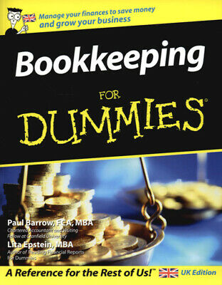 Bookkeeping for dummies by Paul Barrow (Paperback)