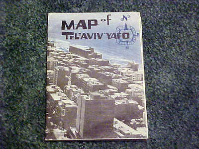 ca 1964 MAP OF TEL AVIV WITH STREET INDEX BY ISRAEL UNITED TOURS 17.5 BY 27.5