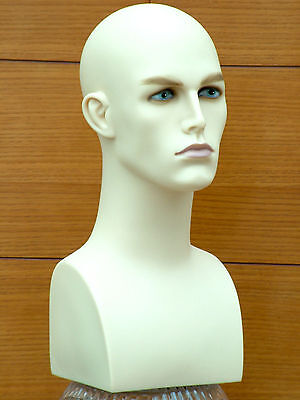 Professional Male Mannequin Head High Quality Model Ross Pale White