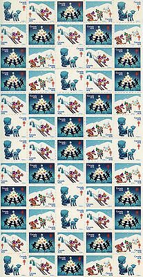 Canada 1978  Planche Timbres Vignettes Tuberculose / Noel / Christmas