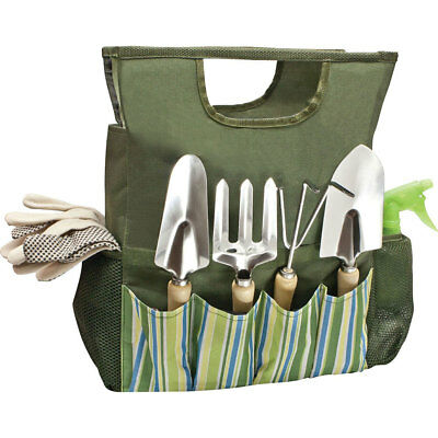 Garden Tool Bag Hand Bulb Trowel Fork Weed Popper Cultivator Spray Gloves Tie