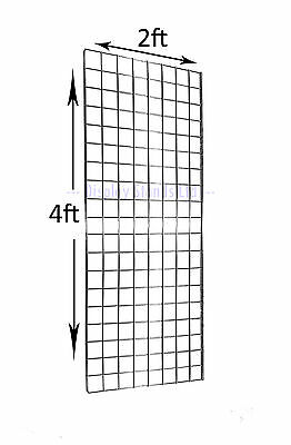 PACK OF 3 GRID MESH WALL PANEL 2FT x 4FT IN CHROME RETAIL/MARKET (E3B)