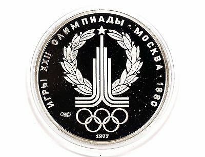 1980 Russia Proof Platinum 150 Roubles Moscow Olympics