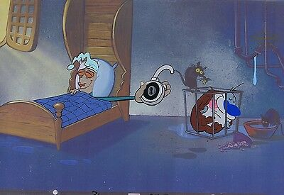 Ren & Stimpy Original Production Cel Cell Animation Art Nickelodeon Egg Yolkeo