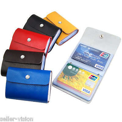Premium Leather Wallet Credit Card Holder ID Business Case Purse Men Womens