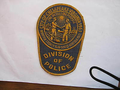 "VINTAGE  Chesapeake City Police Dept.  ""Division of Police""  Virginia   5 3/4"""