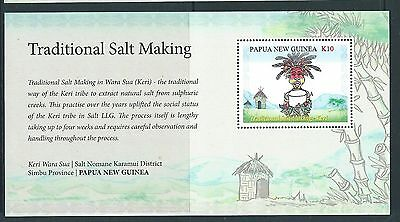 Papua New Guinea 2017 Traditional Salt Making Souvenir Sheet Unmounted Mint,mnh