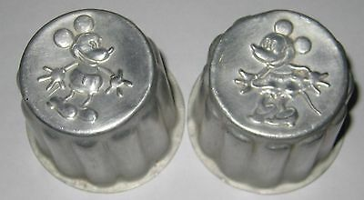 original vintage 1930's MICKEY MOUSE jelly mould pair minnie made in England