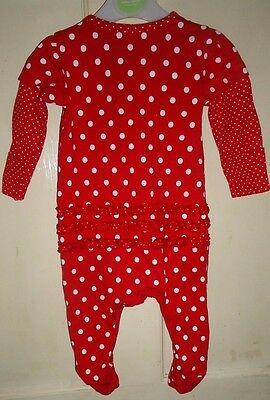 Disney Baby Minnie Mouse Red Cotton Baby-Grow Age 3-6 Months