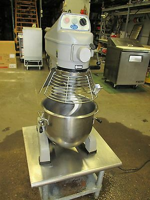Globe 20 Quart Mixer, Bowl, Dough Hook, Beater, Whip, Table Top with Stand