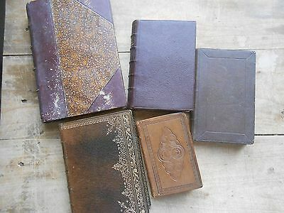 RELIGION MISSEL BIBLE Lot de 5 volumes XIXe Reliure Gravures Christianisme