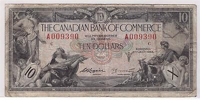 1935 Canadian Bank of Commerce $10 banknote A009390 18-08a Type 2 FINE+ F15