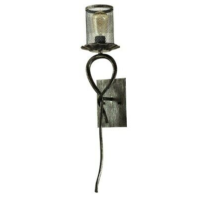 Springdale 1 Light Ernie Wall Sconce With Bulb, Antique Bronze - SPW15016