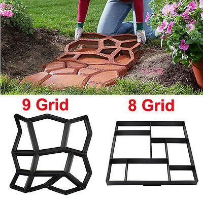 Driveway Paving Brick Patio Concrete Slabs Path Garden Road Mould Rubber 3 Model