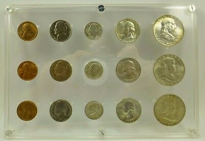 1953 P D & S Brilliant Uncirculated Silver 15 Coins United States Mint Set