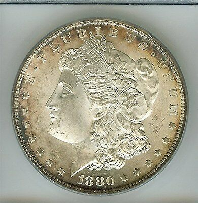 1880-S Morgan Silver Dollar  Icg   Ms63