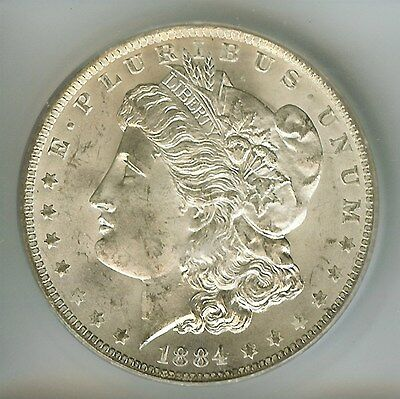 1884-O Morgan Silver Dollar  Icg   Ms64