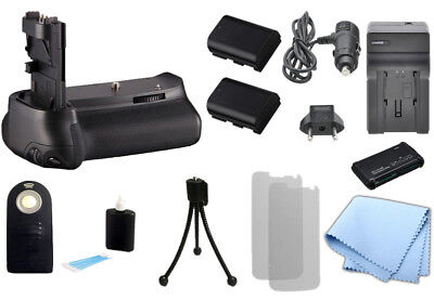 Battery Grip for Canon 60D Camera, 2 LP-E6 Battery, Charger, Remote, BG-E9, BGE9